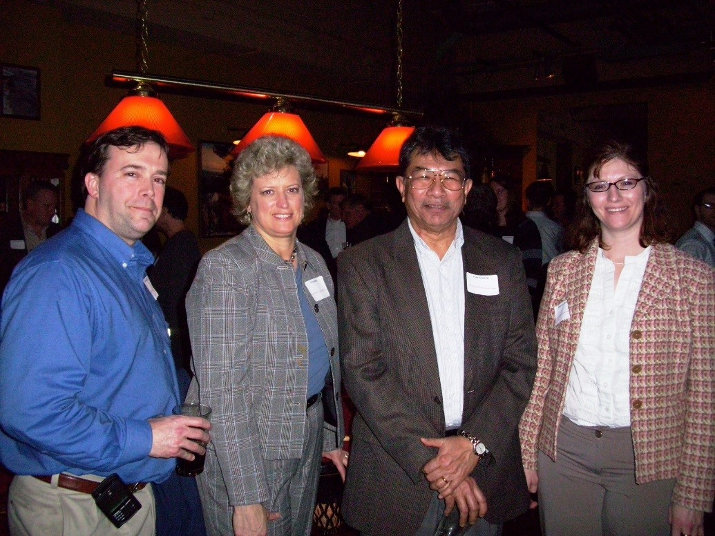 EHS Social – we were still at the Power House -what year was this?  Erik, Elise, Han, Marsha Kramer (MK/WGI)